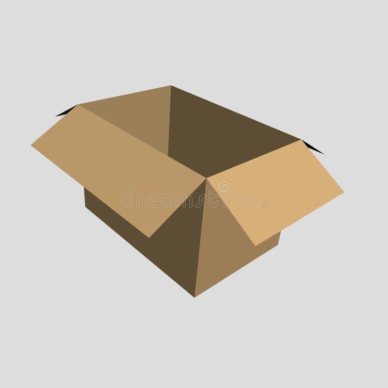 9个配件箱褐色 库存照片