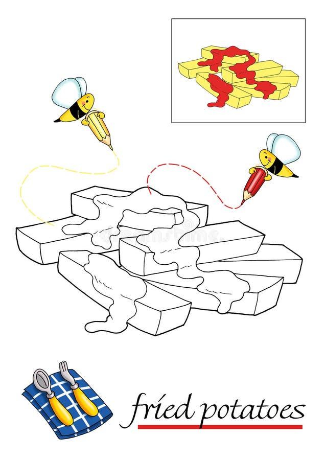 9书儿童上色 向量例证
