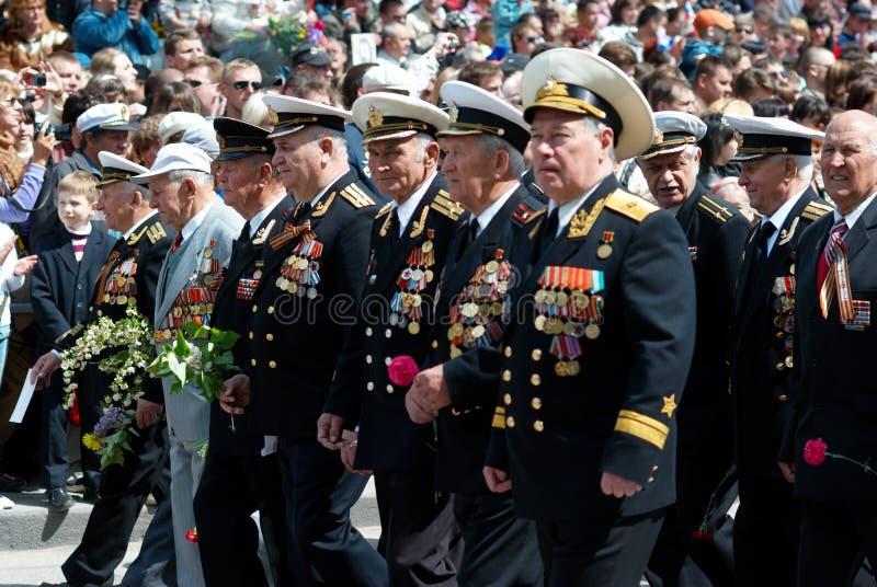 9可能游行俄国s退伍军人 免版税库存照片