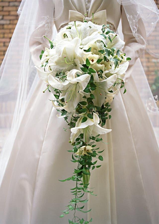 9花束新娘 免版税图库摄影