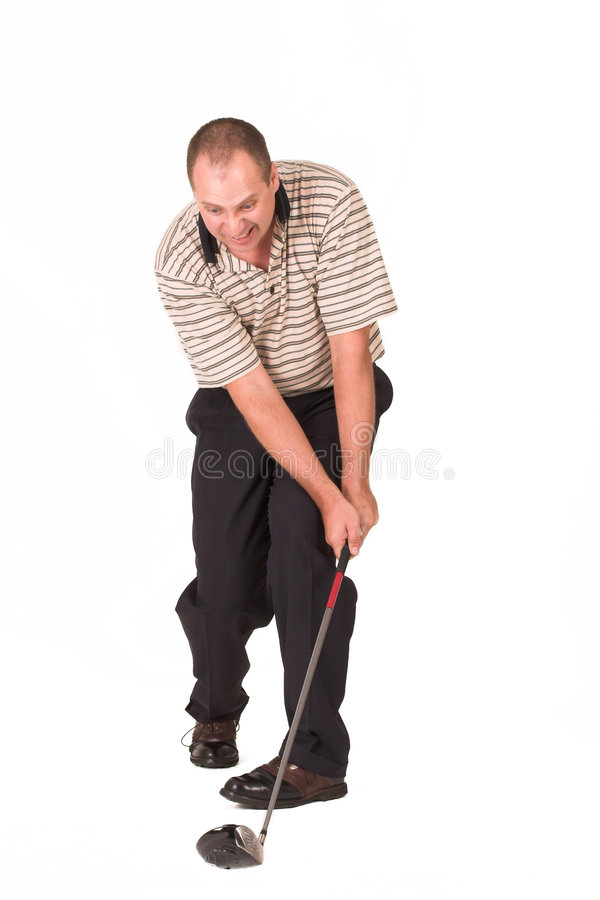 9高尔夫球运动员 免版税库存图片