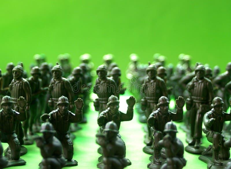 9 żołnierzy. obrazy stock