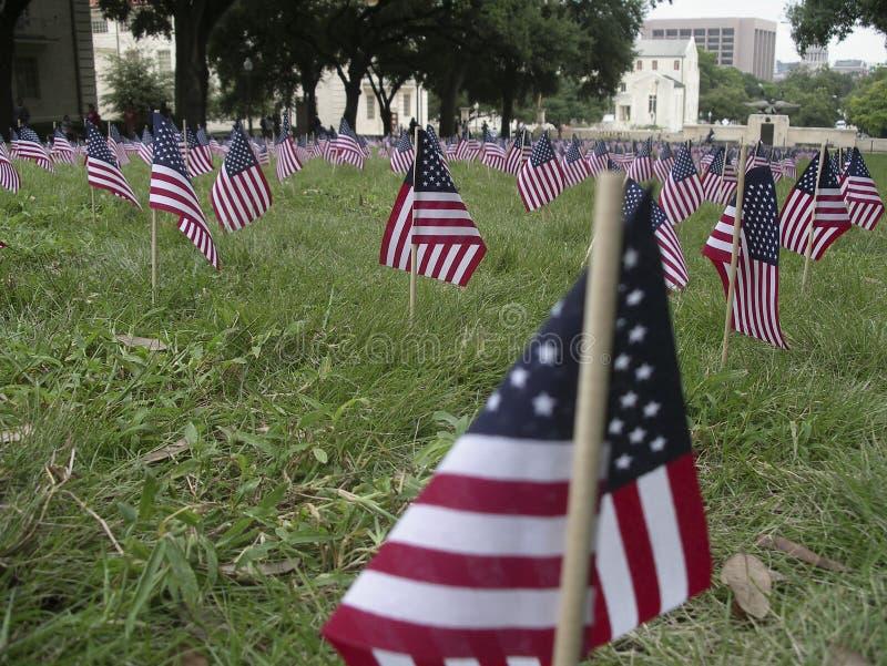 9 μνημείο 11 σημαιών στα θύματα στοκ εικόνες