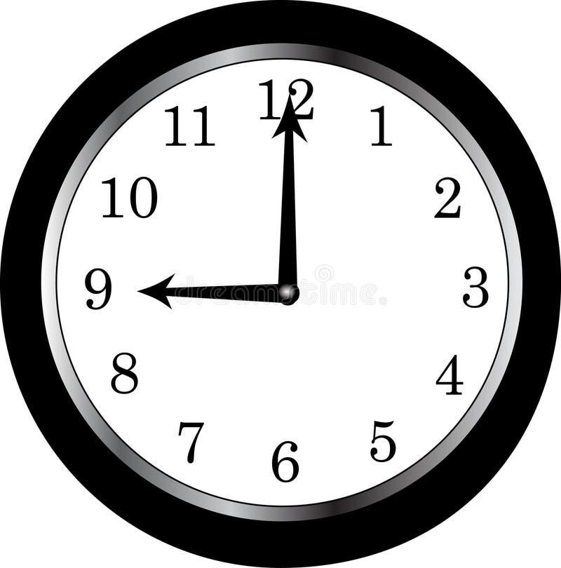 9 ρολόι ο στοκ εικόνες