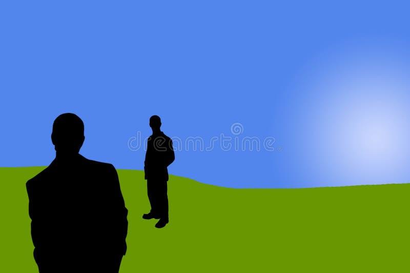 9 бизнесменов теней бесплатная иллюстрация