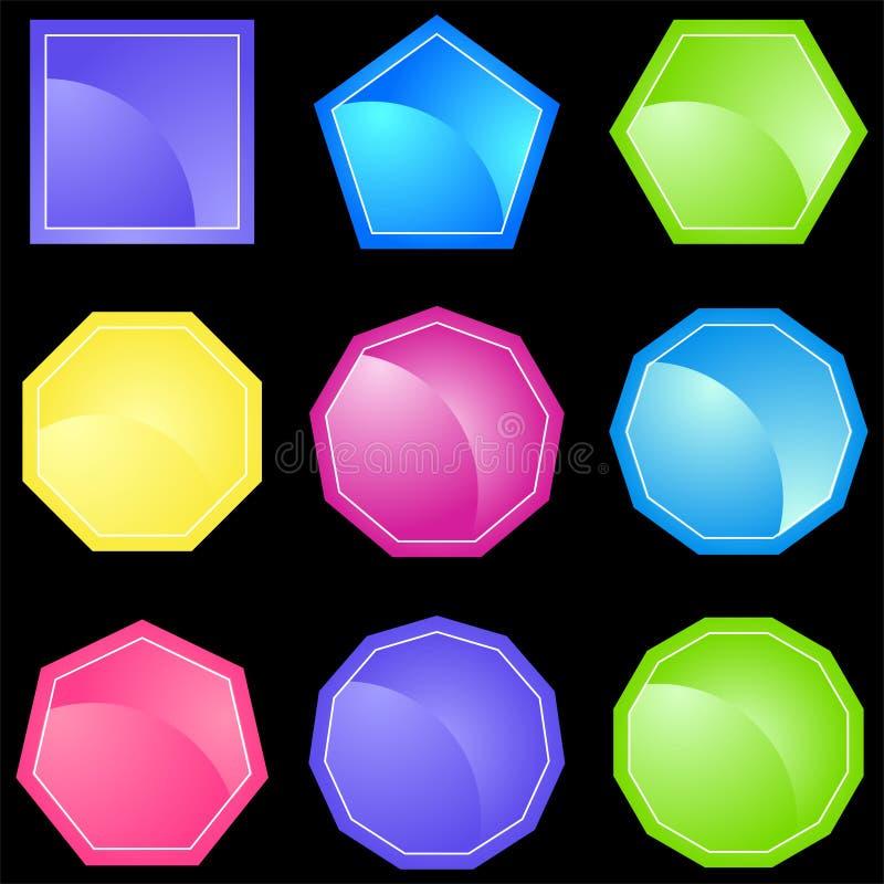 9 установленных форм иллюстрация вектора