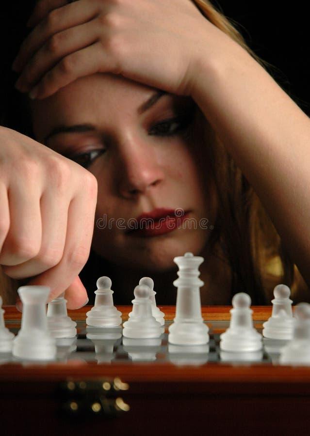 9 частей шахмат стоковое изображение rf