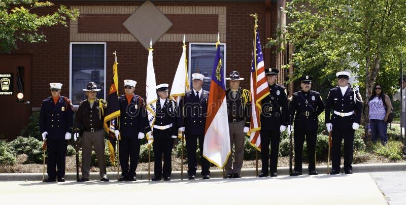 9 11仪式颜色防护具荣誉称号 图库摄影