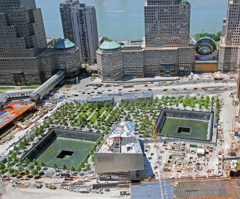 9 11纪念公园 免版税图库摄影