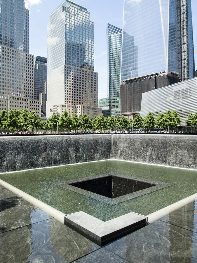 9/11纪念公园 库存图片