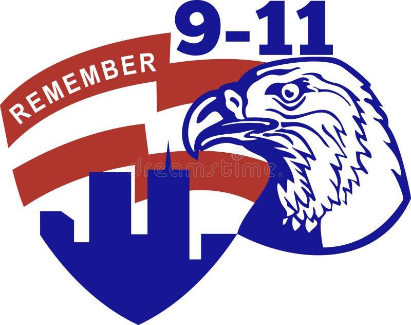 9 11美国白头鹰 库存例证
