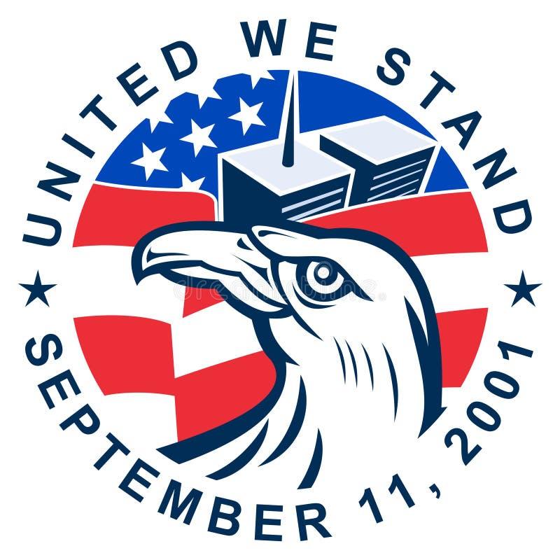 9-11 American bald eagle vector illustration