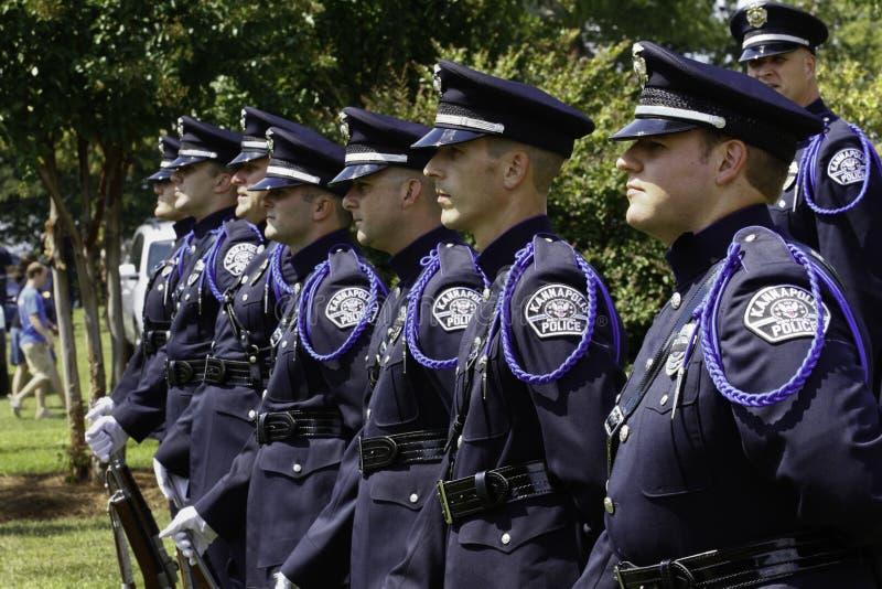 9 11 ceremonii strażowa honoru policja zdjęcia royalty free