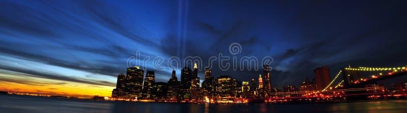 9/11 de tributo na luz. 9/11/2010. New York City fotografia de stock royalty free