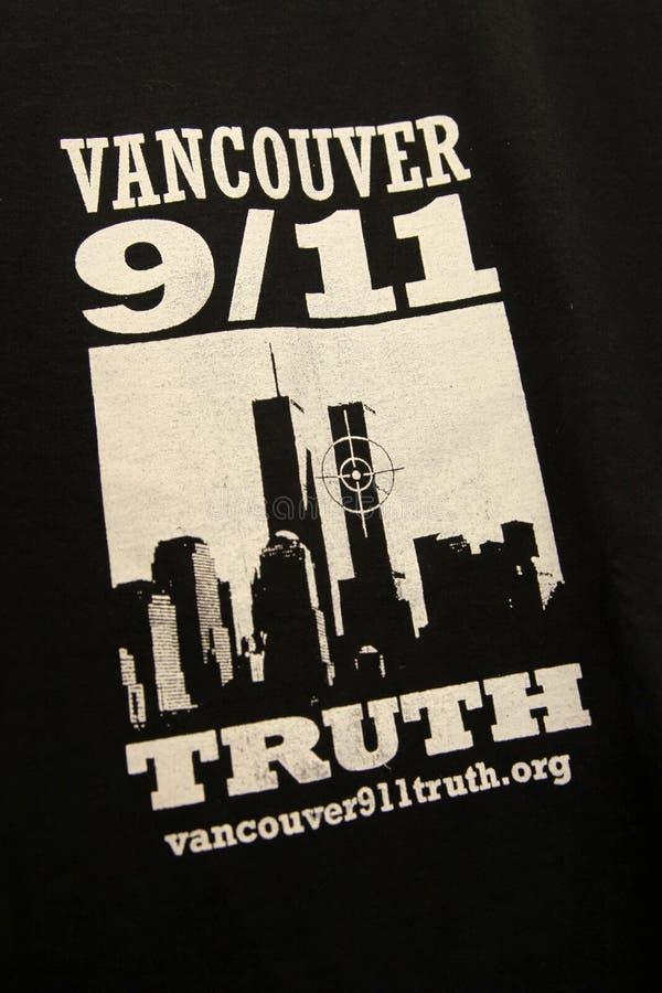 9/11 Demonstratie, Canada (11 September 2009) royalty-vrije stock fotografie