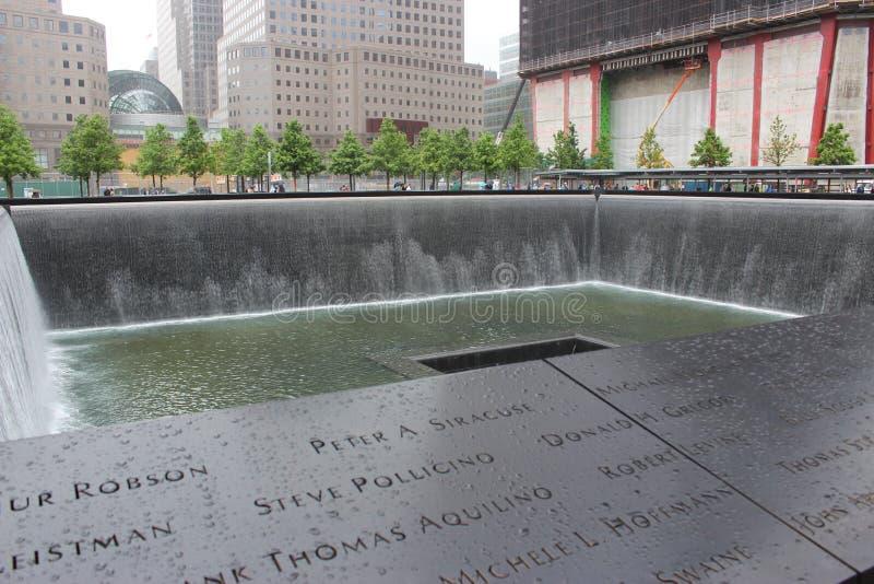 9/11 di memoriale fotografie stock