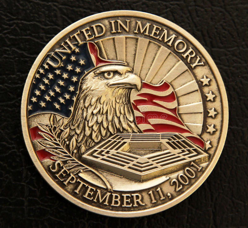 9/11 moneda conmemorativa imagen de archivo libre de regalías