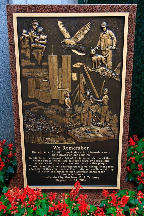 9 11 pomnika momument park obrazy royalty free
