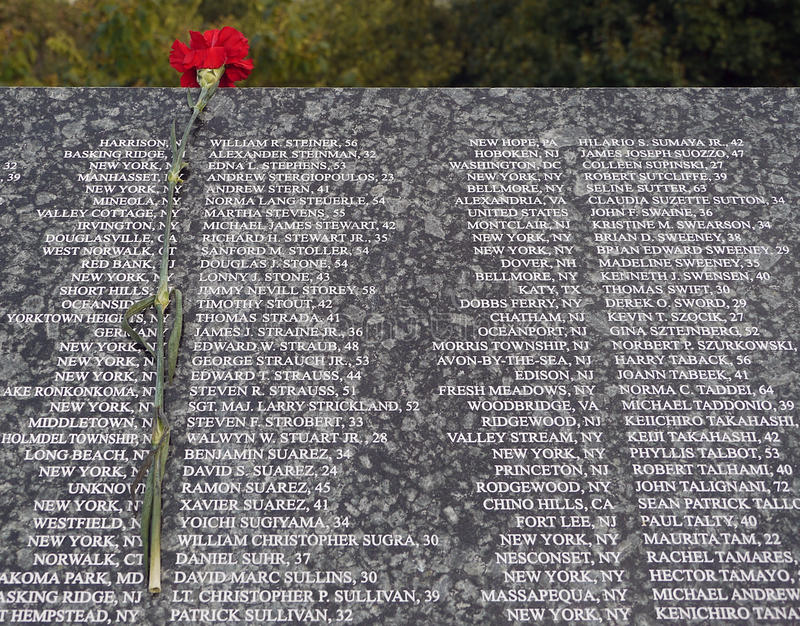 Download 9/11 victims list. editorial stock image. Image of anniversary - 16056764