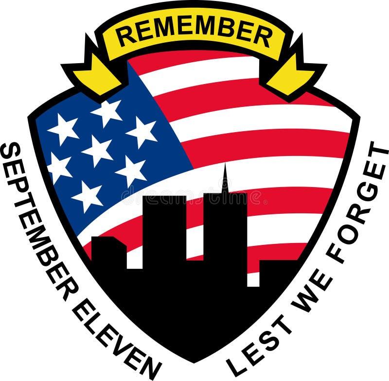 9-11 World Trade Center building royalty free illustration