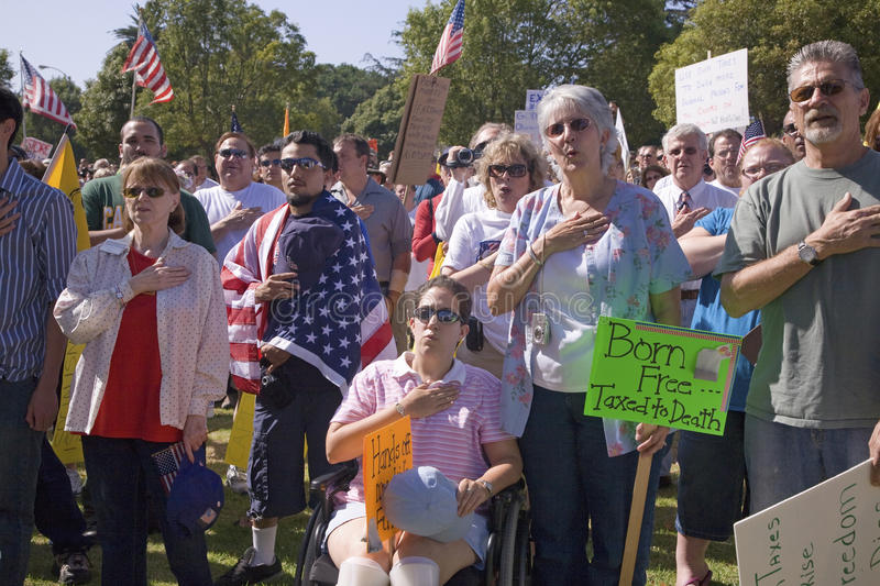 Download 9-12 Rally and Tea Party editorial stock image. Image of federal - 27065744