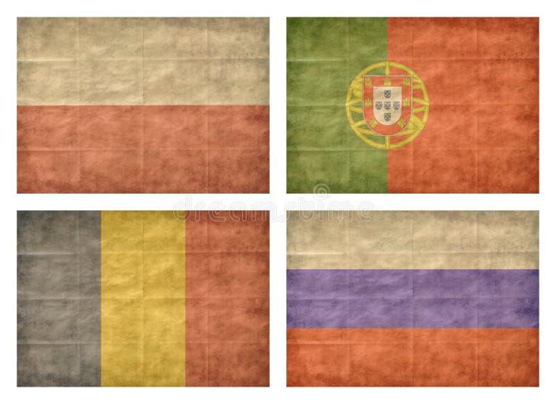 9 13 krajów europejczyka flaga royalty ilustracja