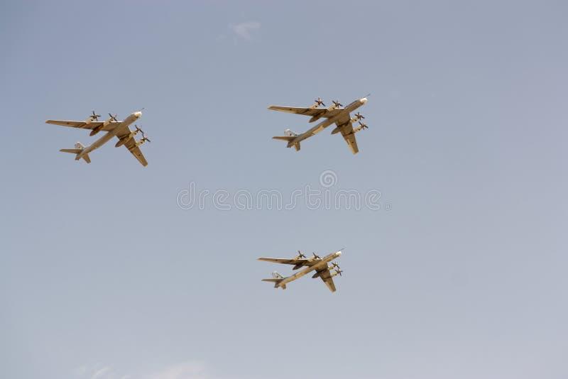 9 2010个航空器可以军事莫斯科游行 图库摄影