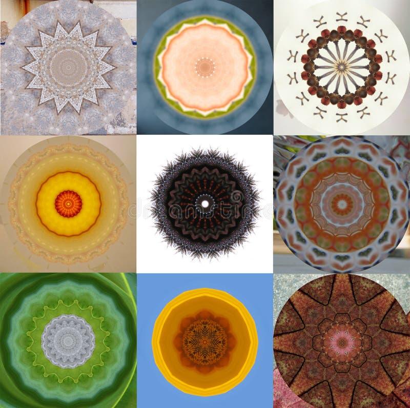 9 abstrakt former vektor illustrationer
