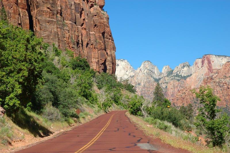 9 autostrad Utah zion zdjęcie royalty free