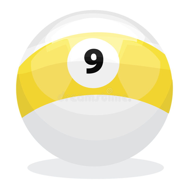 9 Ball with clipping path stock illustration