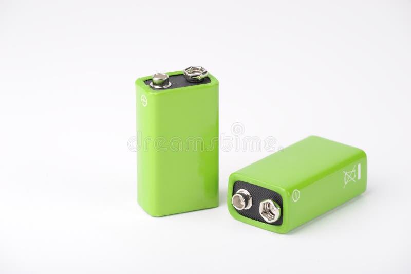 9 baterias de V foto de stock royalty free
