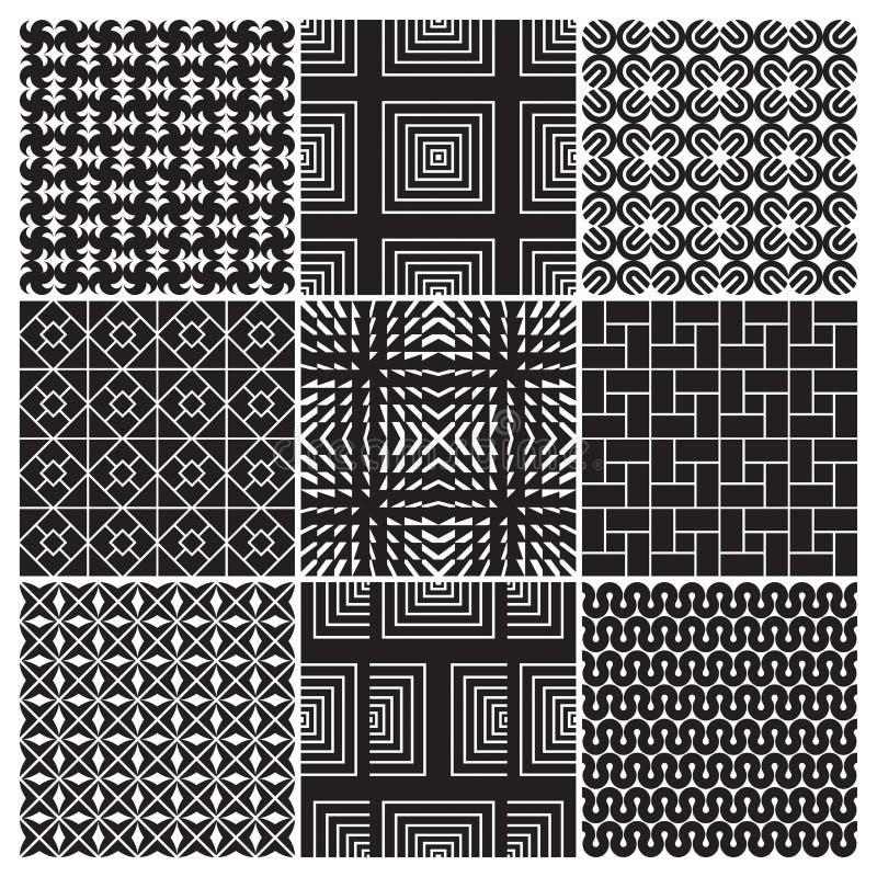 9 configurations monochromes sans joint () illustration libre de droits