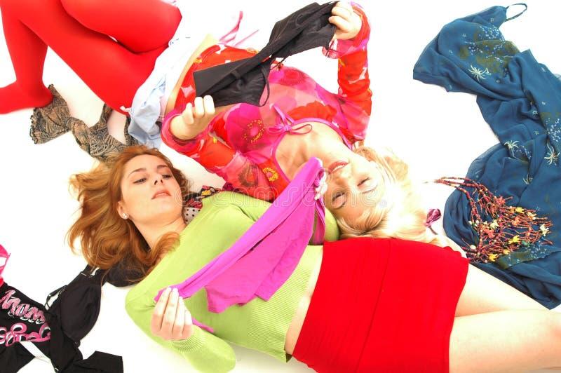 9 färgrika lyckliga tonåringar royaltyfri bild