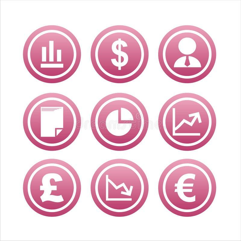 Download 9 Finansowych Ustalonych Znaków Ilustracja Wektor - Ilustracja złożonej z błyszczący, odosobniony: 13340787