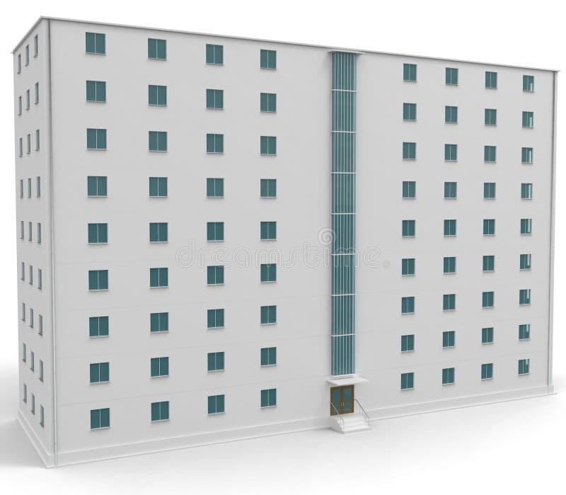 9 finestre bianche del livello blu della casa con illustrazione di stock illustrazione di - Finestre bianche ...