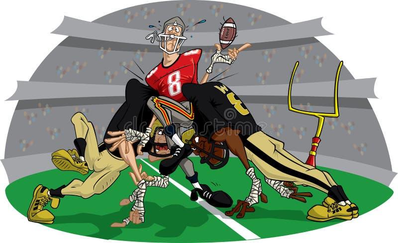 9 futbol amerykański szybciej mecz ilustracji