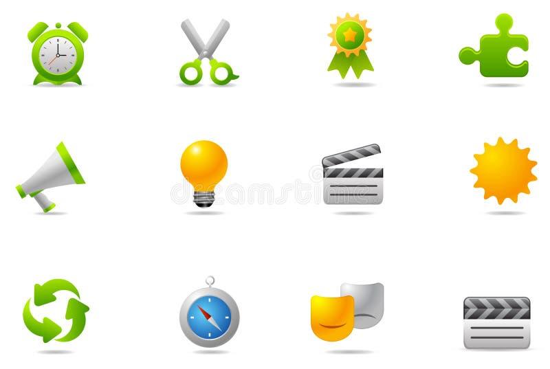 9 inställda philos för symbolssymbolsinternet stock illustrationer