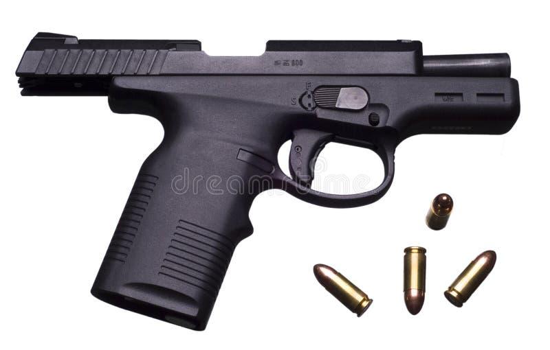 9 millimetrar pistol arkivbild