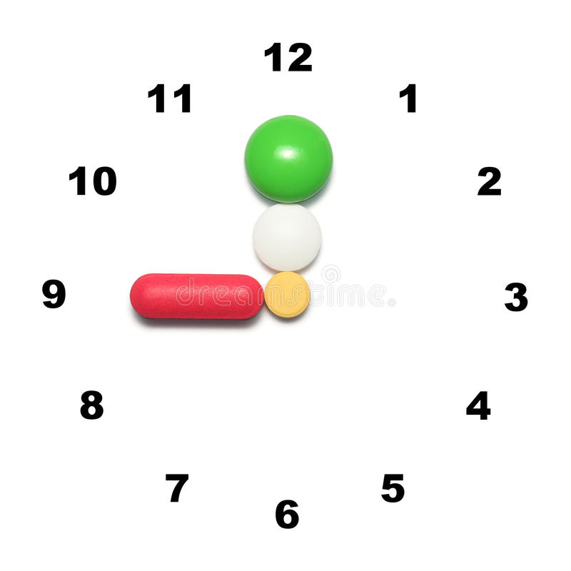 9 o'clock time for medication royalty free stock photography