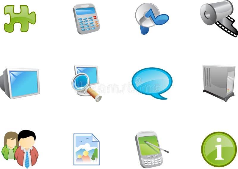 9 serii ikon varico sieci royalty ilustracja