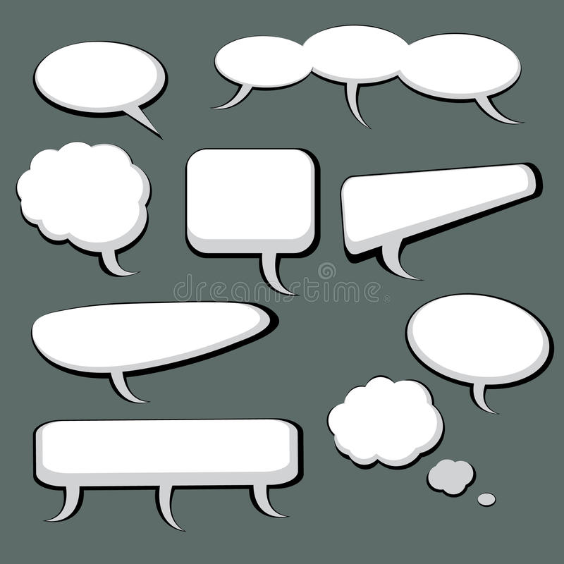 Download 9 Speech And Thought Bubbles Stock Vector - Image: 14643112