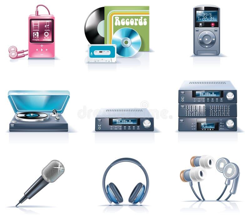 9 urządzeń gospodarstwa domowego ikon część wektor ilustracji