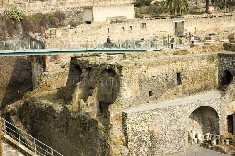 9 utgrävningar herculaneum italy naples arkivfoto