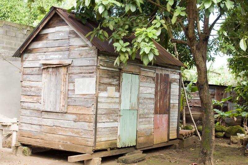 90 éénjarigen Caraïbisch huis Nicaragua royalty-vrije stock foto's