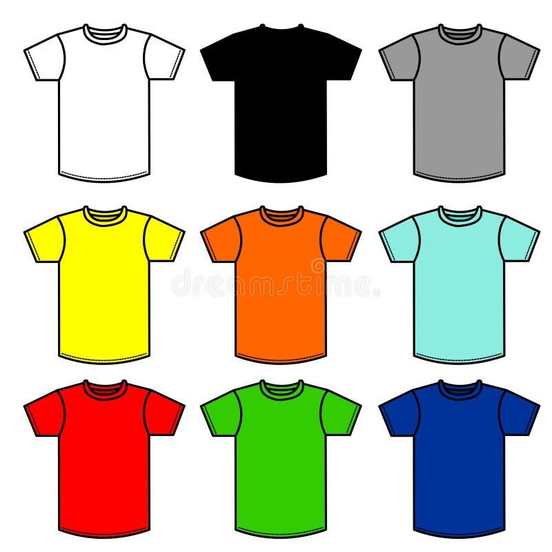 90 рубашек иллюстрация вектора