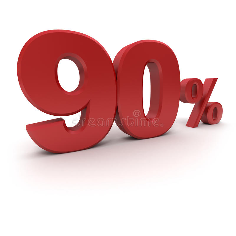 90% stock illustratie