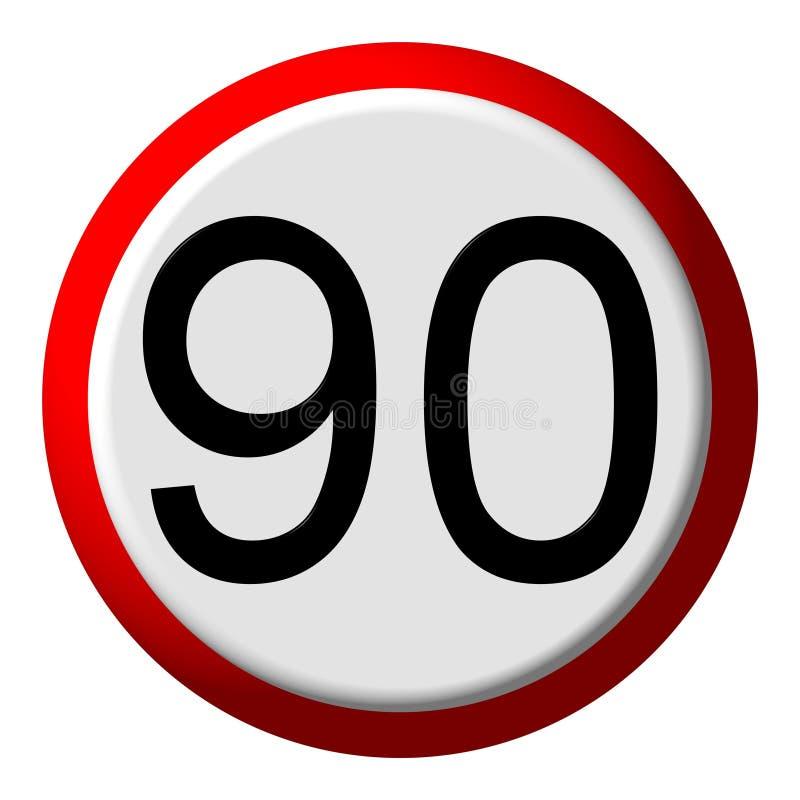 90 limite - signe de route illustration de vecteur