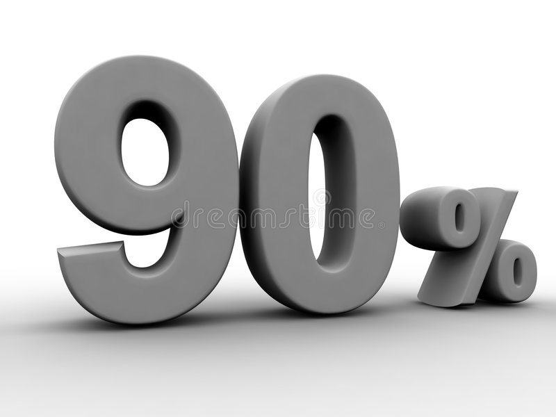 90 percenten stock illustratie