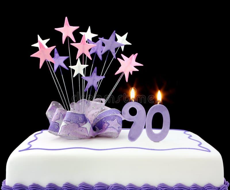 90ste Cake royalty-vrije stock fotografie
