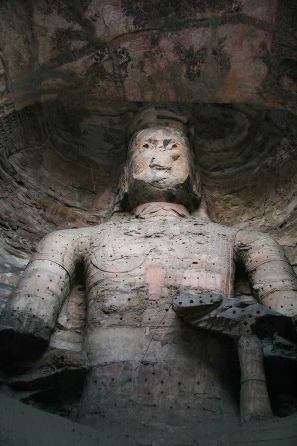 91个雕刻的洞穴石yungang 库存图片